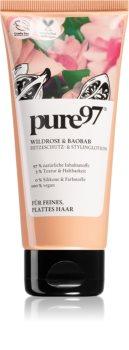 pure97 Wildrose & Baobab Nährende Hitzeschutz-Creme für mehr Haarvolumen