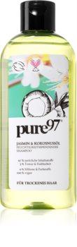 pure97 Jasmin & Kokosnussöl hydratisierendes Shampoo für trockenes Haar