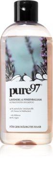 pure97 Lavendel & Pinienbalsam obnovující šampon pro poškozené vlasy