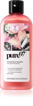pure97 Wildrose & Baobab objemový šampon pro jemné a zplihlé vlasy