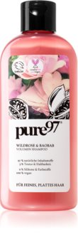 pure97 Wildrose & Baobab sampon pentru volum pentru par fin