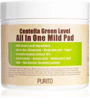Purito Centella Green Level peelingové pleťové tamponky