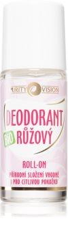 Purity Vision BIO deodorant roll-on s růžovou vodou