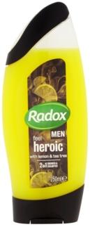 Radox Men Feel Heroic gel de duche e champô 2 em 1