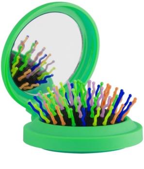 Rainbow Brush Pocket escova de cabelo com espelho pequeno