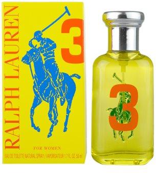 Ralph Lauren The Big Pony 3 Yellow eau de toilette para mulheres 50 ml