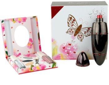 Rasasi Daala Al Banat Amani eau de parfum + sombra de ojos + delineador de ojos líquido + brillo de labios para mujer