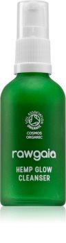 RawGaia Hemp Glow leite de limpeza suave para pele mista a oleosa