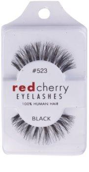 Red Cherry Sage nalepovací řasy z přírodních vlasů