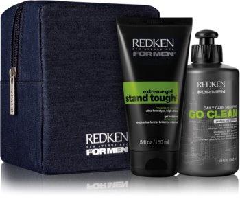 Redken For Men Go Clean kozmetični set II. (za suhe in normalne lase) za moške