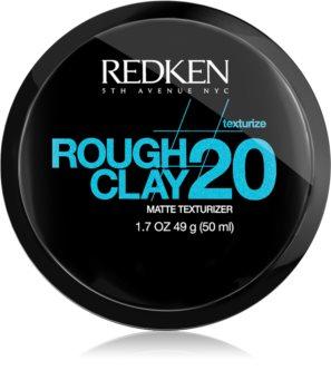 Redken Texturize Rough Clay 20 matirajoča pasta za fleksibilno učvrstitev