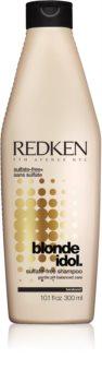 Redken Blonde Idol champú sin sulfatos para cabello rubio