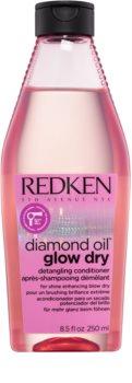 Redken Diamond Oil Glow Dry Verhelderende Conditioner voor Glanzend en Makkelijk Kambaar Haar