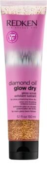 Redken Diamond Oil Glow Dry För-schamposkrubb för glansigt hår