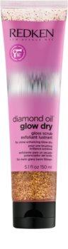 Redken Diamond Oil Glow Dry скраб за скалп преди миене на коса