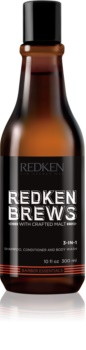 Redken Brews Shampoo, Conditioner und Duschgel 3 in 1