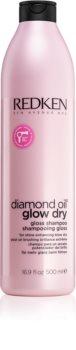Redken Diamond Oil Glow Dry champô em gel para cabelo sem brilho