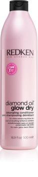 Redken Diamond Oil Glow Dry acondicionador iluminador para dar brillo y desenredar el cabello