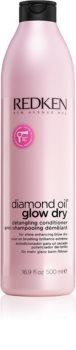 Redken Diamond Oil Glow Dry aufhellender Conditioner für Glanz und problemlose Kämmbarkeit der Haare