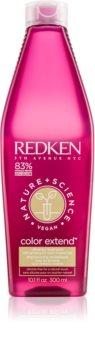 Redken Nature+Science Color Extend champú limpiador para cabello teñido y dañado