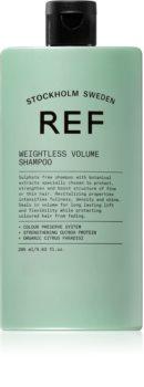 REF Weightless Volume Hiustenpesuaine Hennoille ja Ontuville Hiuksille Voimakkuudelle Juurista