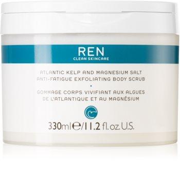 REN Atlantic Kelp And Magnesium Salt Anti-Fatigue Exfoliating Body Scrub energizující tělový peeling s hydratačním účinkem