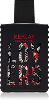Replay Signature Lovers For Man Eau de Toilette pentru bărbați