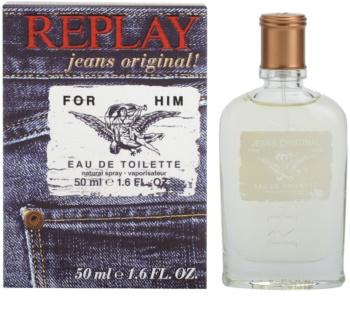 Replay Jeans Original! For Him Eau de Toilette pentru bărbați