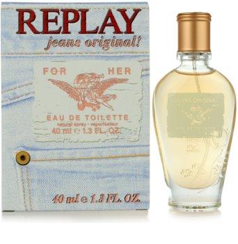 Replay Jeans Original! For Her Eau de Toilette for Women 40 ml