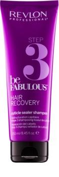 Revlon Professional Be Fabulous Hair Recovery Shampoo mit Haarverschluss-Effekt zur Verlängerung der Einwirkung von regenerierenden Masken