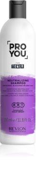 Revlon Professional Pro You The Toner Shampoo zum Neutralisieren von Gelbstich für blonde und graue Haare