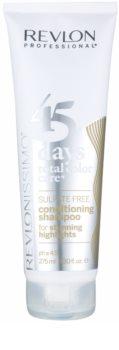 Revlon Professional Revlonissimo Color Care Șampon și balsam 2 în 1 pentru părul grizonat și alb