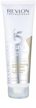 Revlon Professional Revlonissimo Color Care shampoing et après-shampoing 2 en 1 pour cheveux méchés et blancs