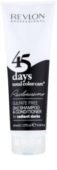 Revlon Professional Revlonissimo Color Care champú y acondicionador 2 en 1 para cabello oscuro a negro