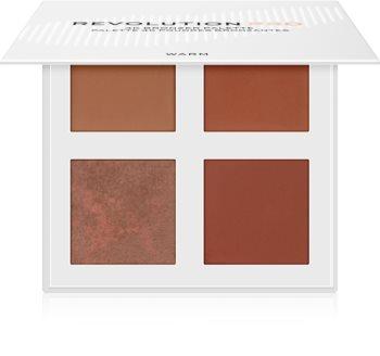 Revolution PRO 4K Bronzer Palette Palette mit Bronzepuder
