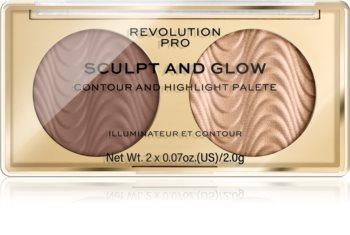 Revolution PRO Sculpt And Glow Konturier-Palette für die Wangen