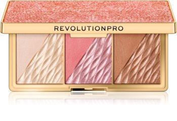 Revolution PRO Crystal Luxe paletta az egész arcra
