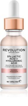 Revolution Skincare 5% Lactic Acid + Hyaluronic Acid scrub viso