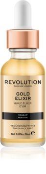 Revolution Skincare Gold Elixir eliksir do twarzy z olejkiem z dzikiej róży
