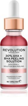 Revolution Skincare 30% AHA + BHA Peeling Solution Intensiivinen Kemiallinen Kuorinta Kirkastavan Vaikutuksen Kanssa