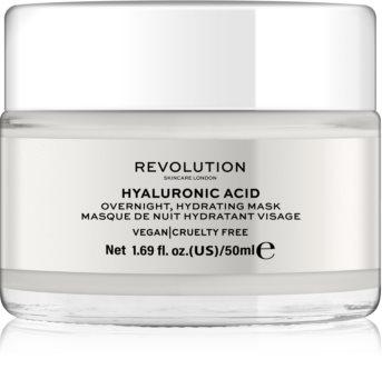 Revolution Skincare Hyaluronic Acid máscara de noite hidratante para rosto