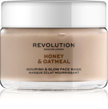 Revolution Skincare Honey & Oatmeal rozjasňující pleťová maska