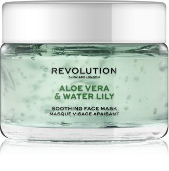 Revolution Skincare Aloe Vera & Water Lily upokojujúca pleťová maska
