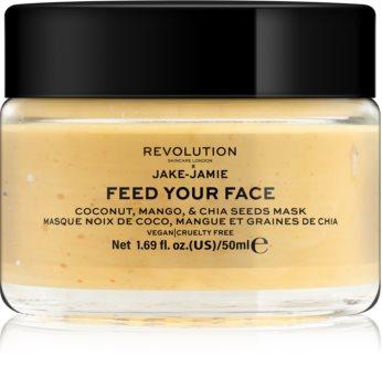 Revolution Skincare X Jake-Jamie Coconut, Mango & Chia Seed rozjasňující pleťová maska