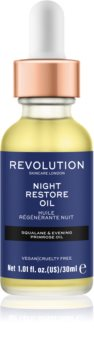 Revolution Skincare Night Restore Oil olio illuminante e idratante