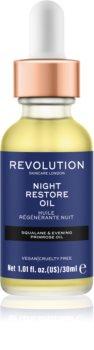 Revolution Skincare Night Restore Oil posvetlitveno in vlažilno olje