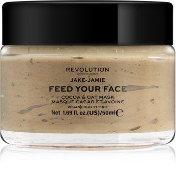 Revolution Skincare X Jake-Jamie Cocoa & Oat ενυδατική μάσκα προσώπου