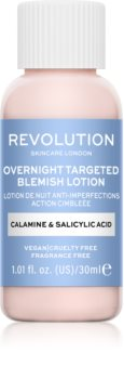 Revolution Skincare Blemish Calamine & Salicylic Acid lokálna starostlivosť proti akné na noc