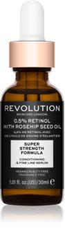 Revolution Skincare 0.5% Retinol Super Serum with Rosehip Seed Oil  ser hidratant si impotriva ridurilor