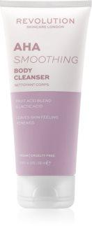 Revolution Skincare Body AHA (Smoothing) почистващ душ гел s AHA
